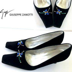Vintage GIUSEPPE ZANOTT Dragonfly Kitten Heels 8
